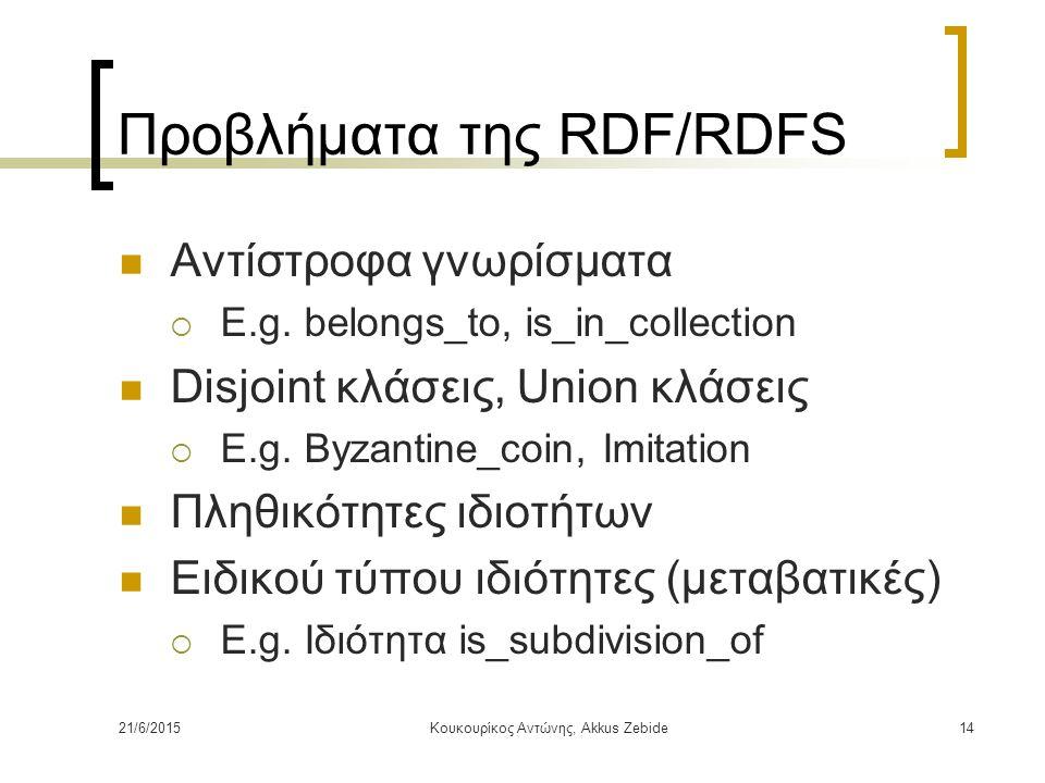 Προβλήματα της RDF/RDFS