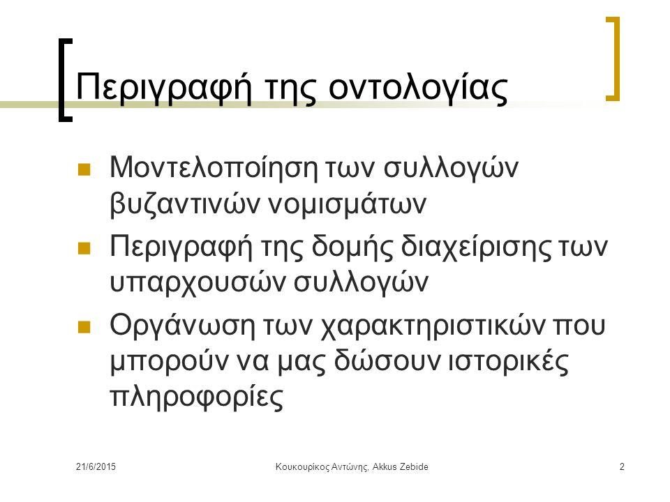 Περιγραφή της οντολογίας