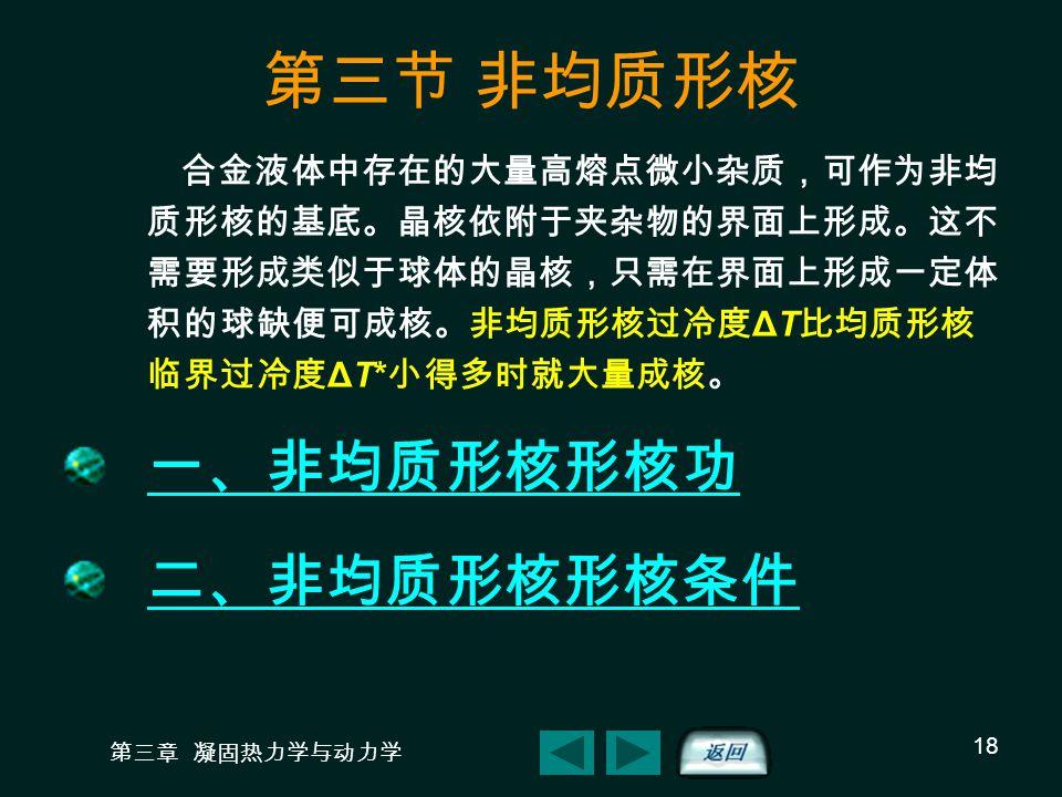 第三节 非均质形核 一、非均质形核形核功 二、非均质形核形核条件