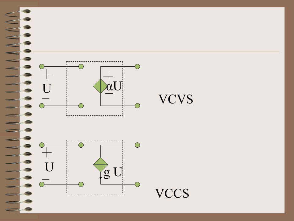 VCVS VCCS αU U U g U