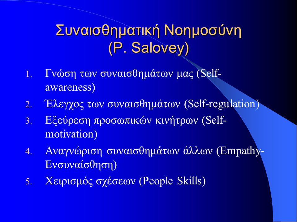 Συναισθηματική Νοημοσύνη (P. Salovey)
