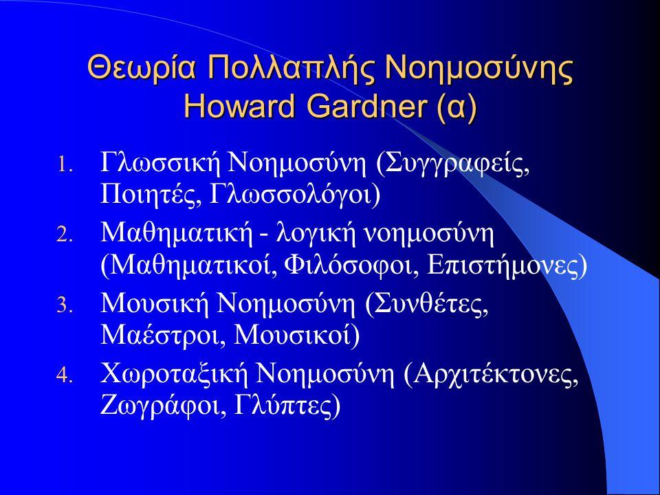 Θεωρία Πολλαπλής Νοημοσύνης Howard Gardner (α)
