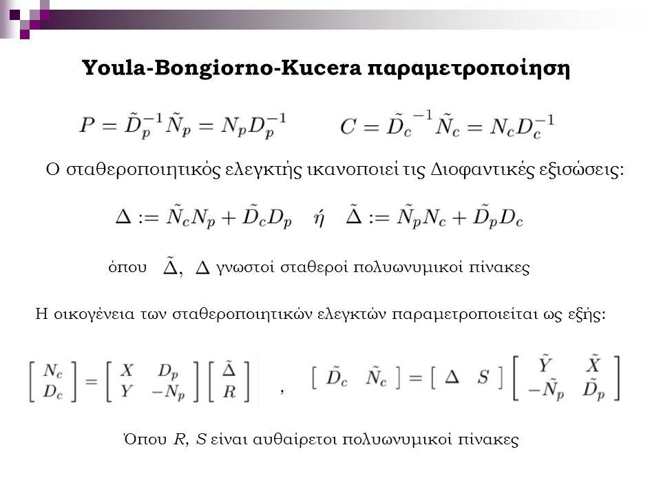 Youla-Bongiorno-Kucera παραμετροποίηση