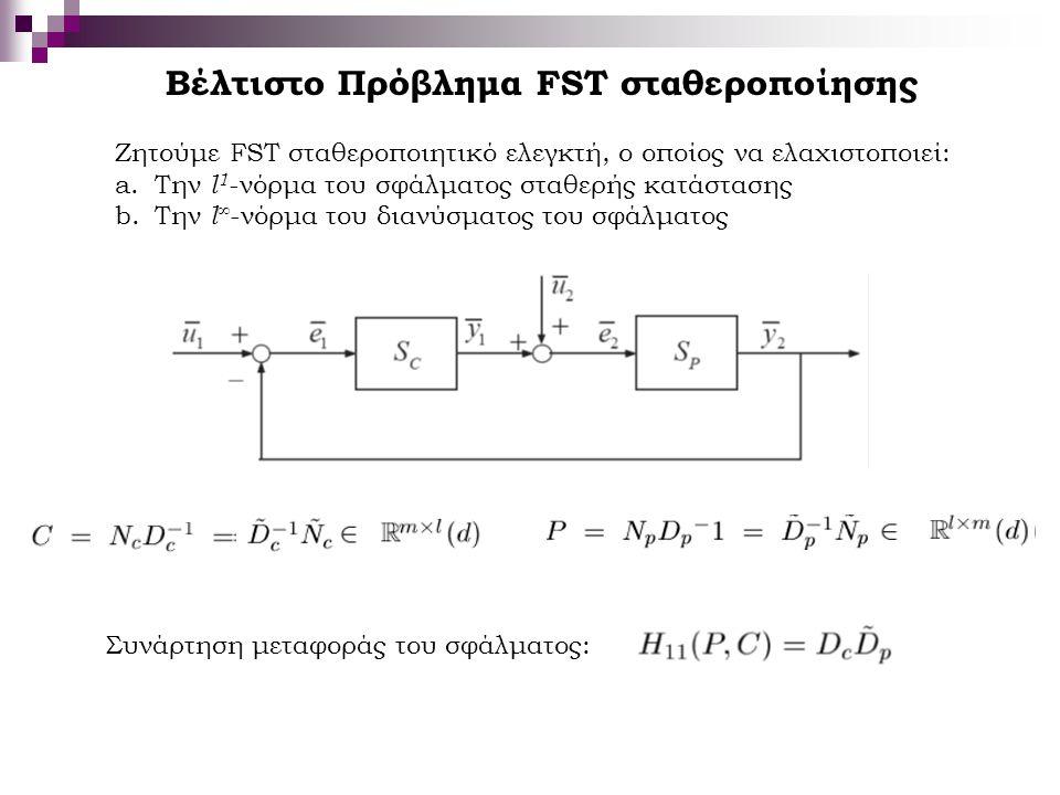 Βέλτιστο Πρόβλημα FST σταθεροποίησης