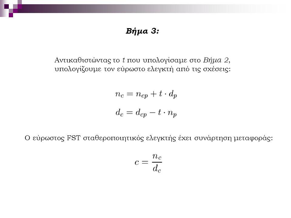 Βήμα 3: Αντικαθιστώντας το t που υπολογίσαμε στο Βήμα 2,
