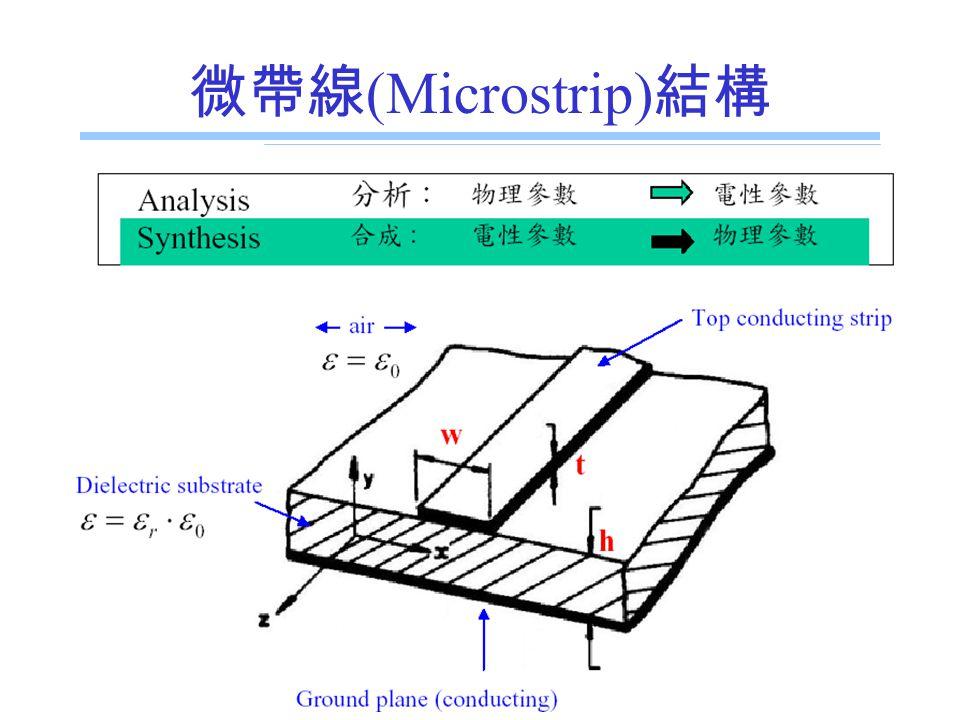 微帶線(Microstrip)結構 E.E. Dept., NSYSU