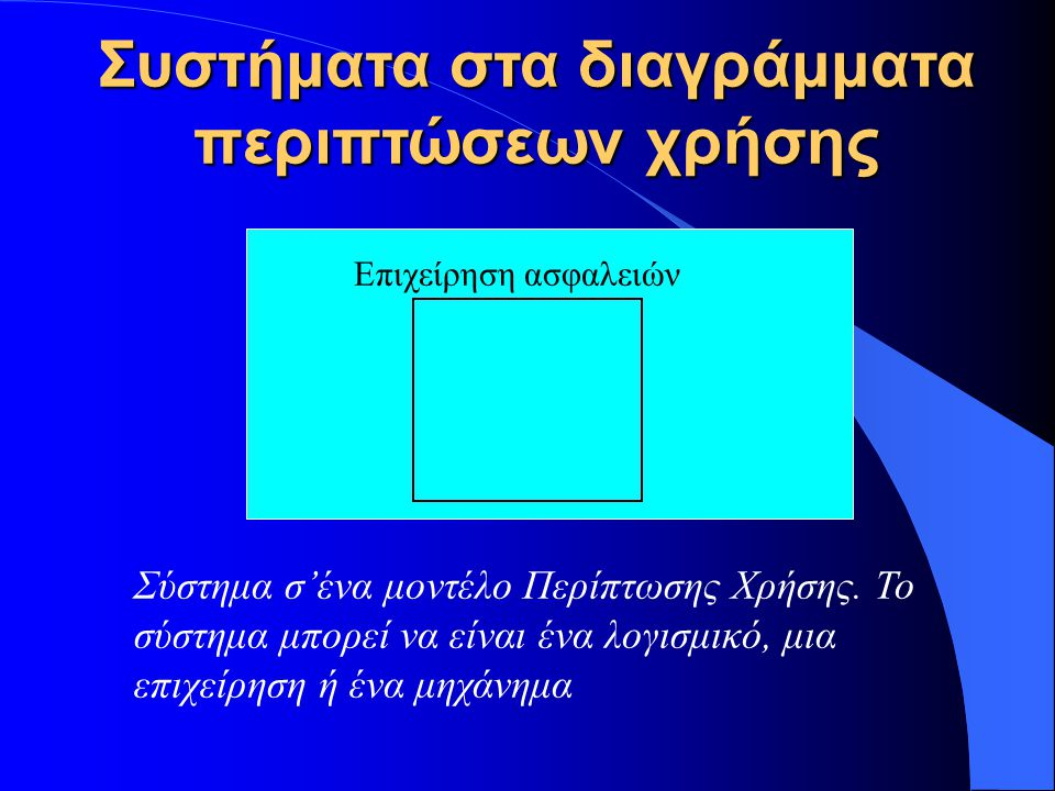Συστήματα στα διαγράμματα περιπτώσεων χρήσης