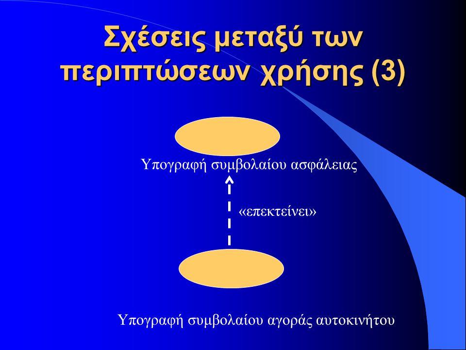 Σχέσεις μεταξύ των περιπτώσεων χρήσης (3)