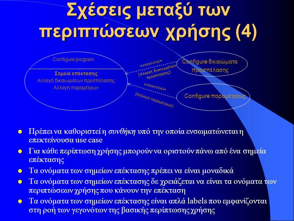 Σχέσεις μεταξύ των περιπτώσεων χρήσης (4)