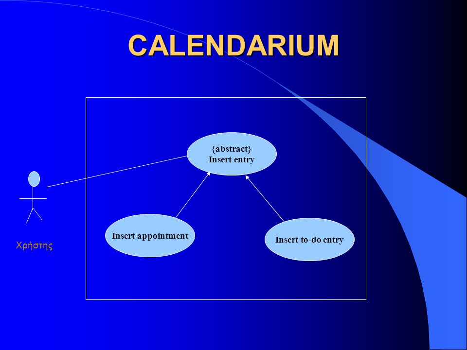CALENDARIUM {abstract} Insert entry Insert appointment