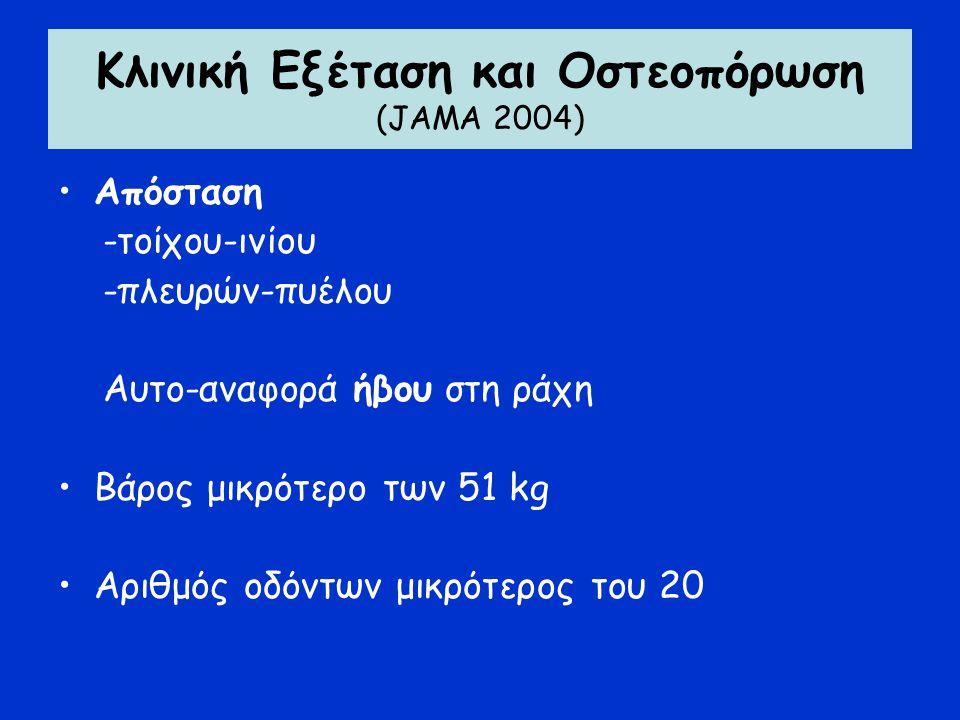 Κλινική Εξέταση και Οστεοπόρωση (JΑΜΑ 2004)