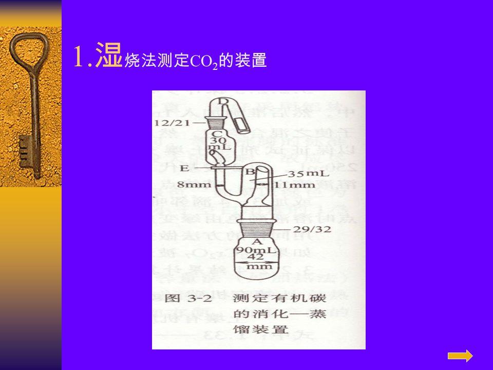 1.湿烧法测定CO2的装置