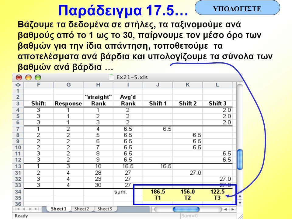 Παράδειγμα 17.5… ΥΠΟΛΟΓΙΣΤΕ.