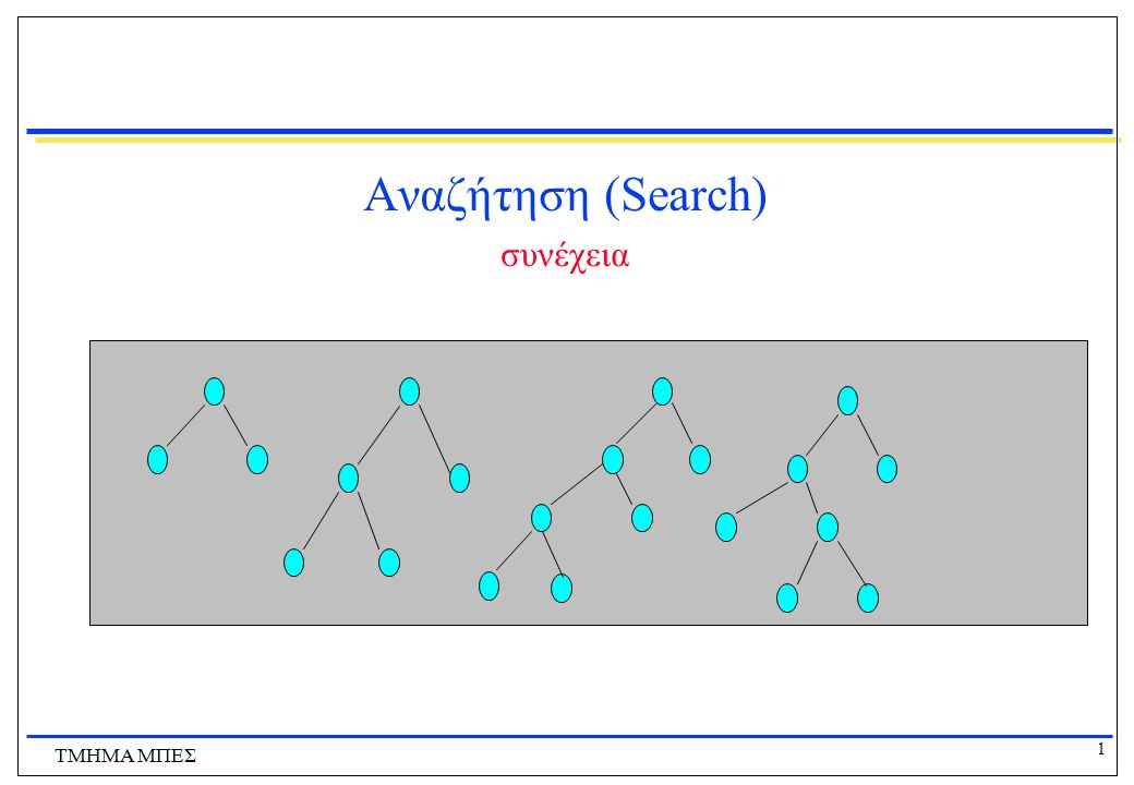 Αναζήτηση (Search) συνέχεια ΤΜΗΜΑ ΜΠΕΣ