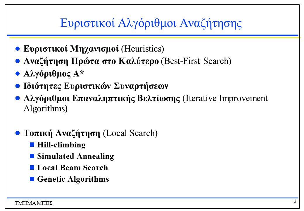 Ευριστικοί Αλγόριθμοι Αναζήτησης