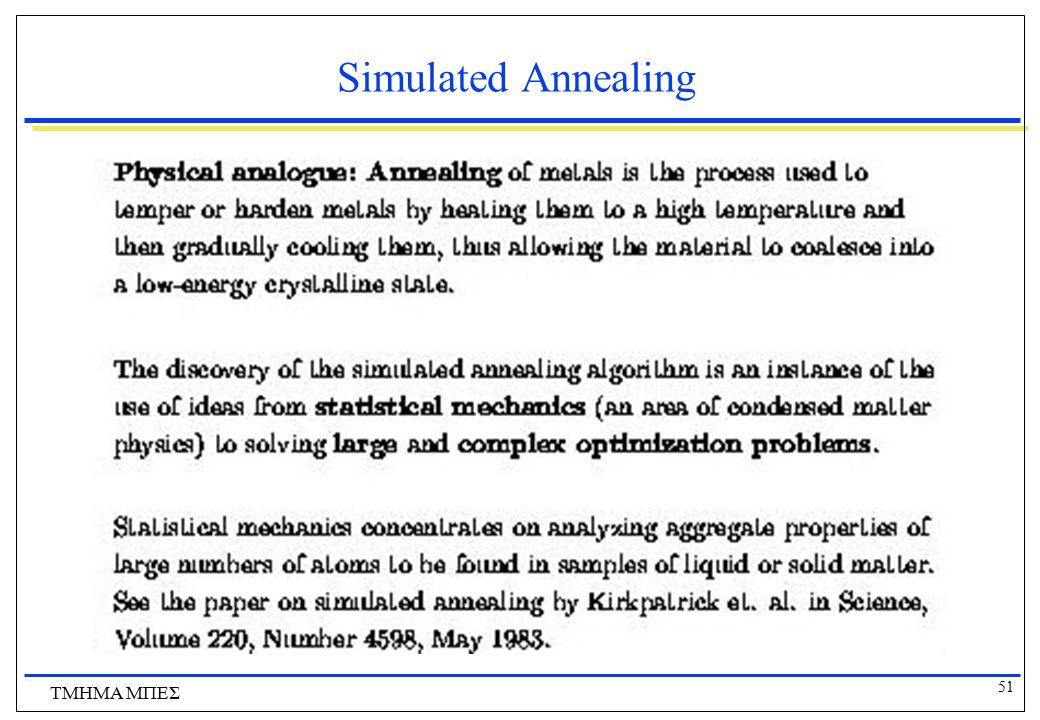 Simulated Annealing ΤΜΗΜΑ ΜΠΕΣ