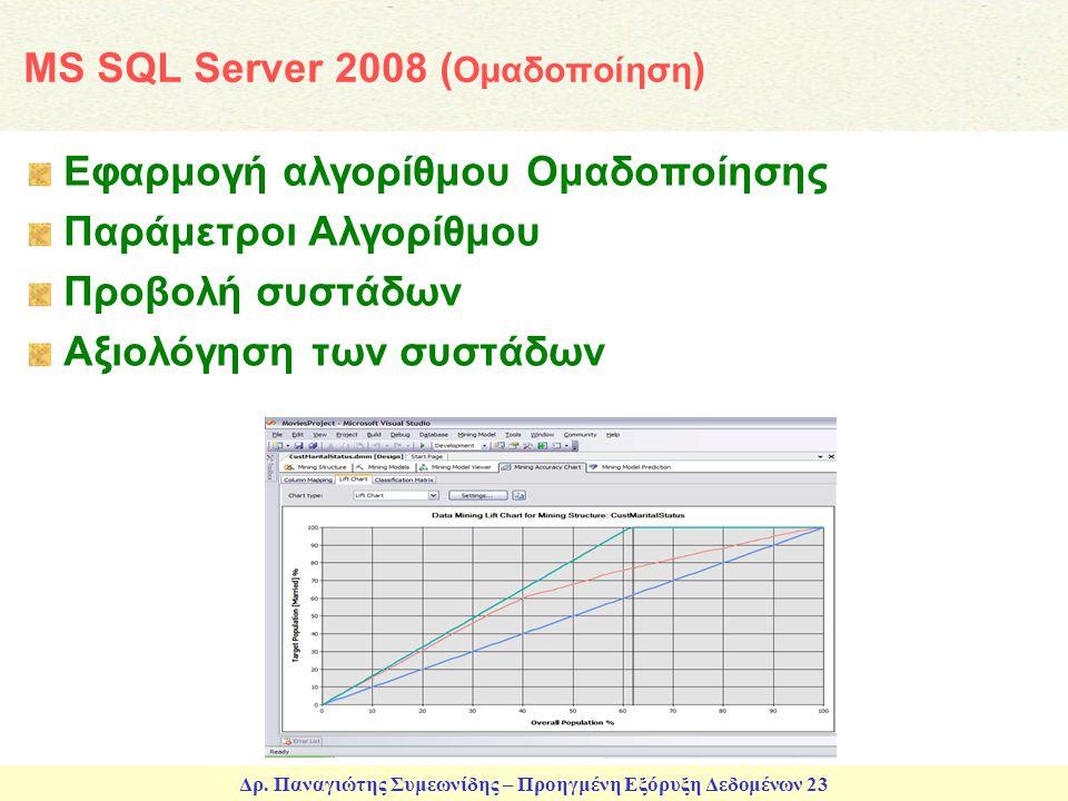 MS SQL Server 2008 (Ομαδοποίηση)