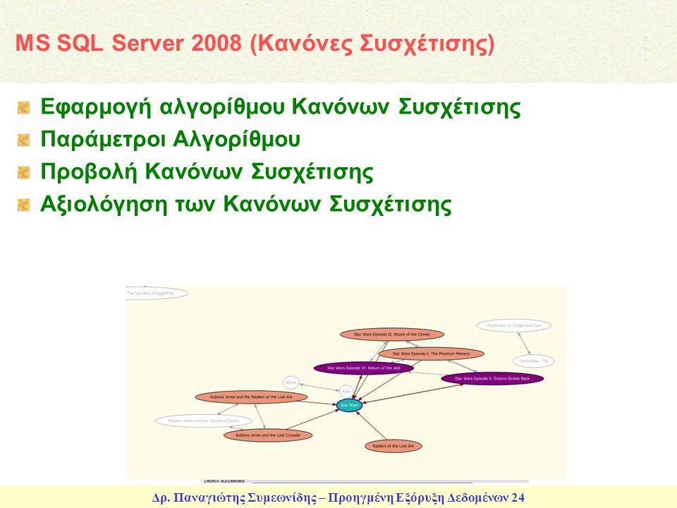 MS SQL Server 2008 (Κανόνες Συσχέτισης)