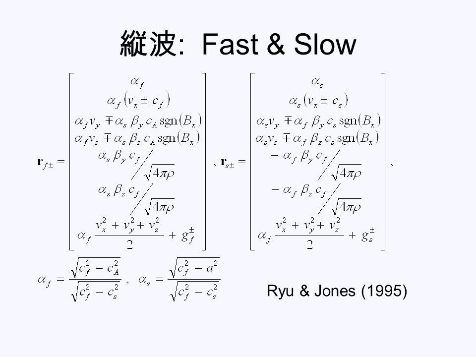 縦波: Fast & Slow Ryu & Jones (1995)
