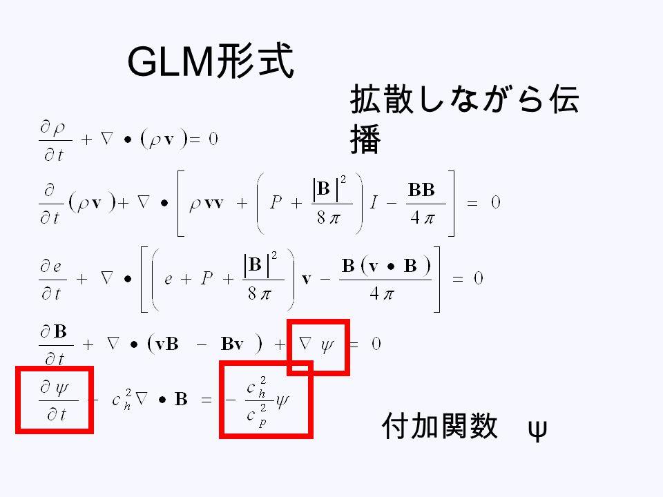 GLM形式 拡散しながら伝播 付加関数 ψ