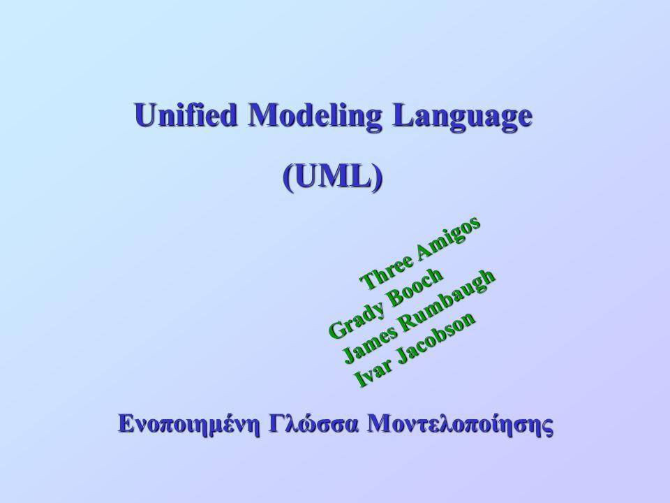 Unified Modeling Language Ενοποιημένη Γλώσσα Μοντελοποίησης