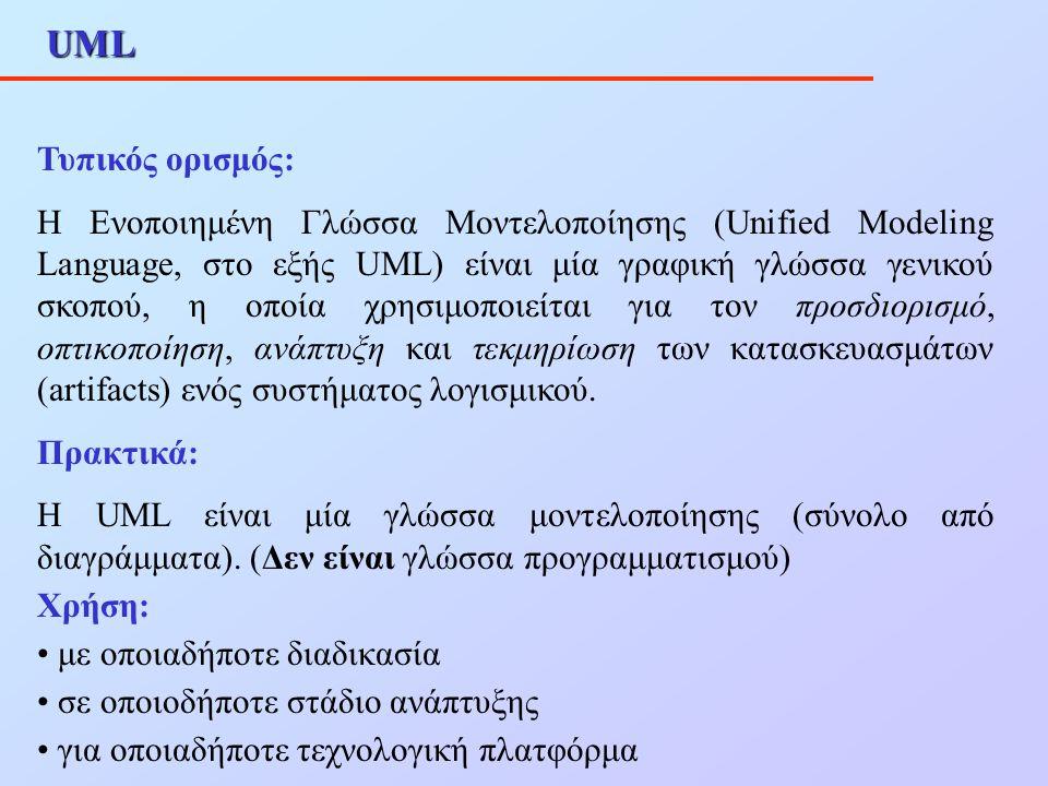 UML Τυπικός ορισμός: