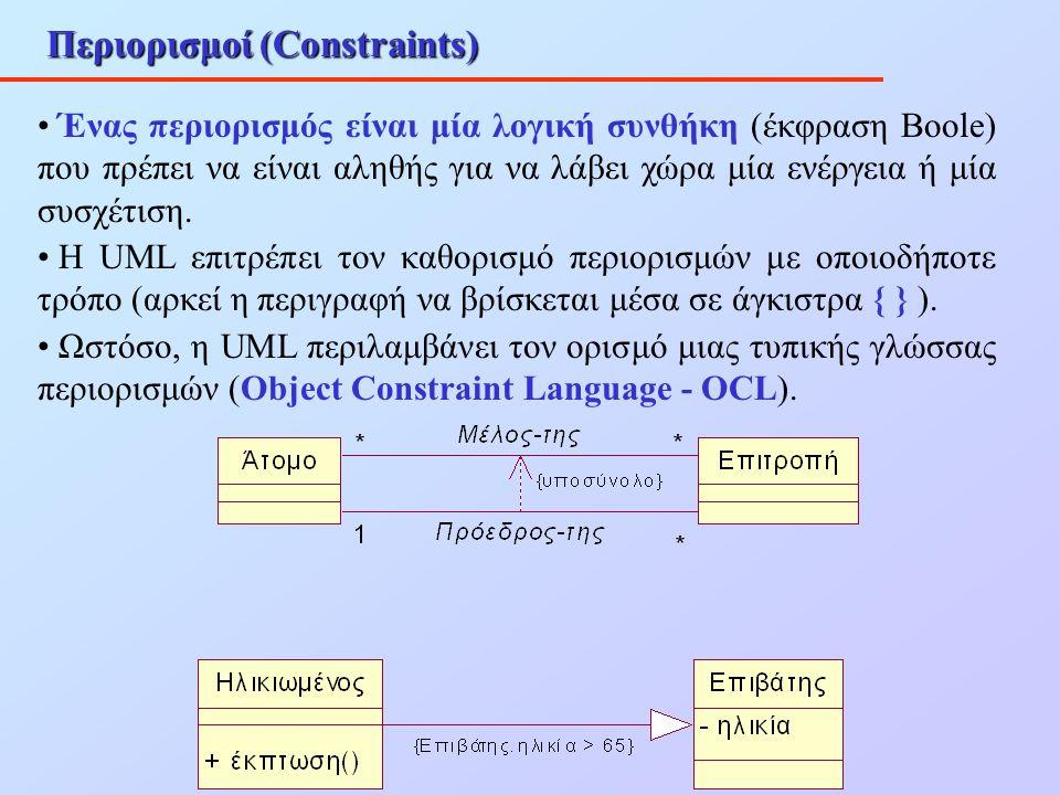 Περιορισμοί (Constraints)