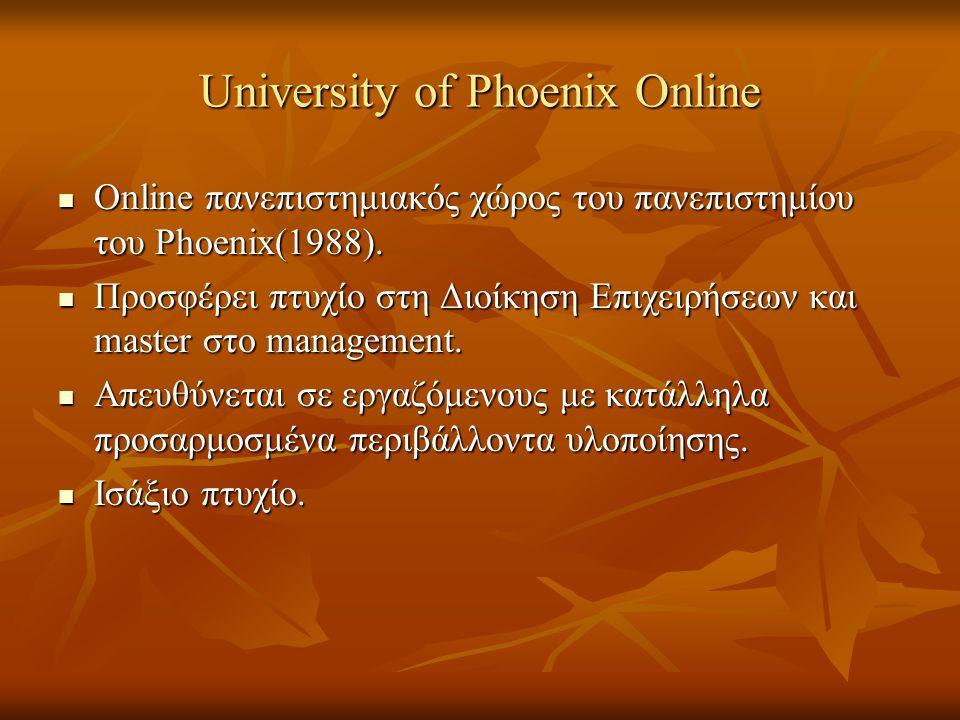 University of Phoenix Online