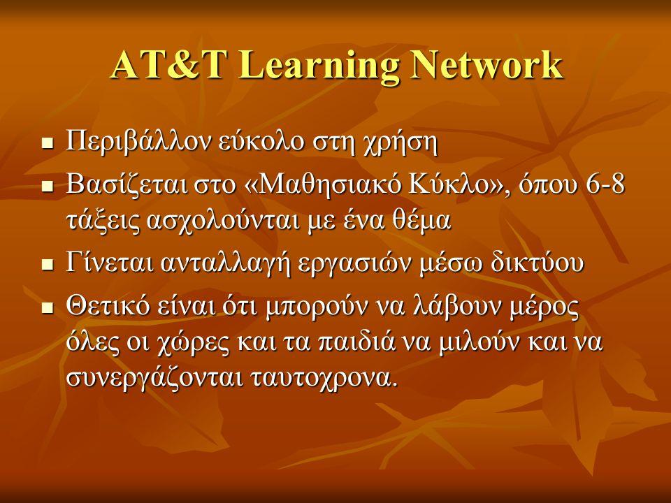 ΑΤ&Τ Learning Network Περιβάλλον εύκολο στη χρήση