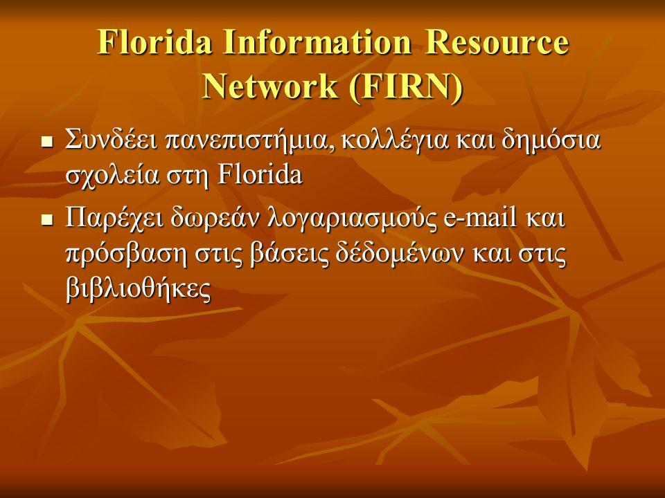 Florida Information Resource Network (FIRN)