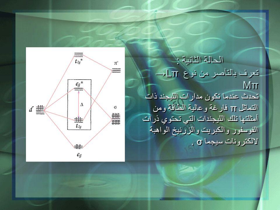 الحالة الثانية : تعرف بالتآصر من نوع Lπ → Mπ
