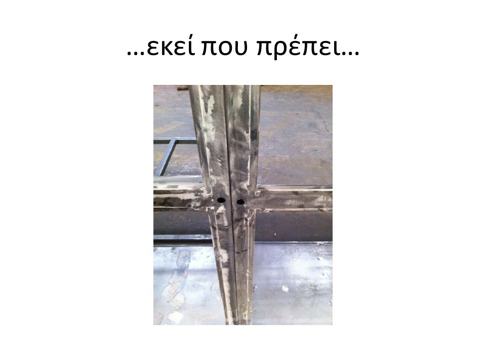 …εκεί που πρέπει…