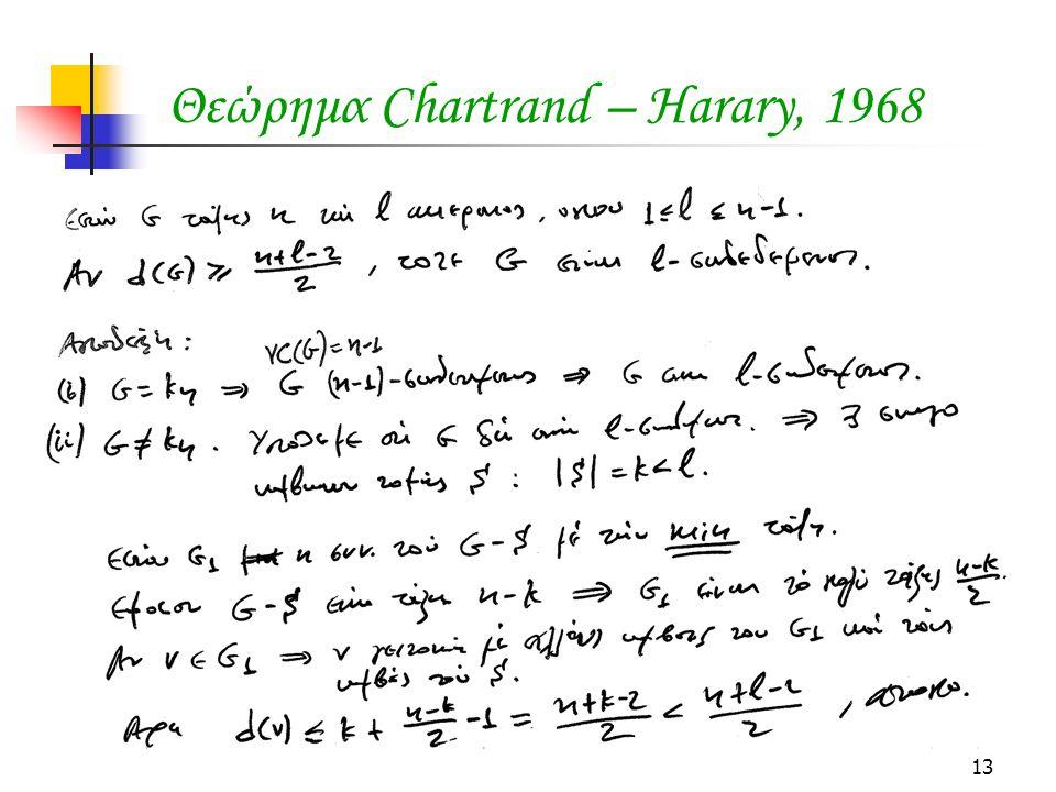 Θεώρημα Chartrand – Harary, 1968