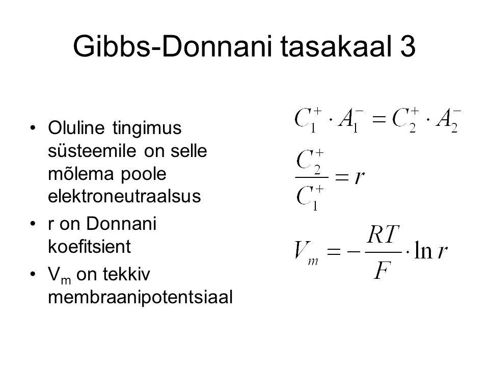 Gibbs-Donnani tasakaal 3