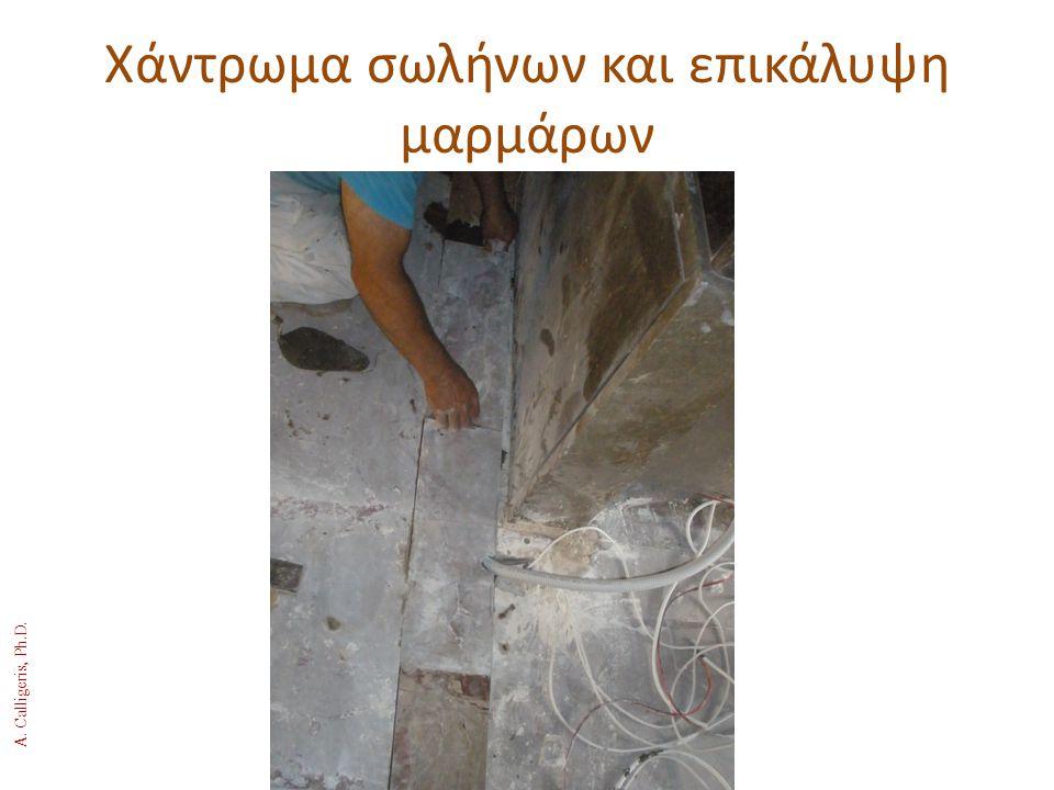 Χάντρωμα σωλήνων και επικάλυψη μαρμάρων