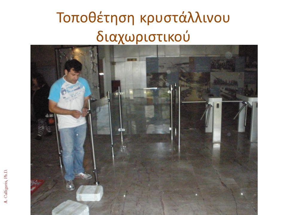 Τοποθέτηση κρυστάλλινου διαχωριστικού