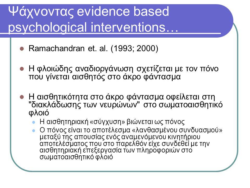 Ψάχνοντας evidence based psychological interventions…