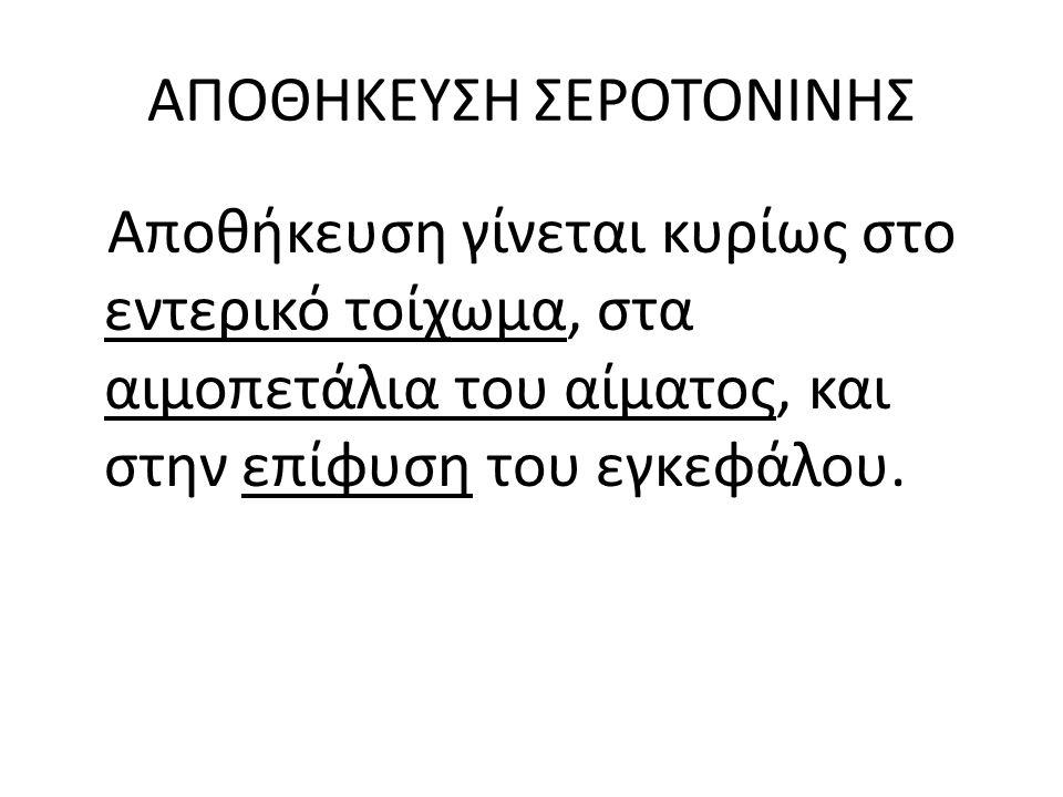 ΑΠΟΘΗΚΕΥΣΗ ΣΕΡΟΤΟΝΙΝΗΣ