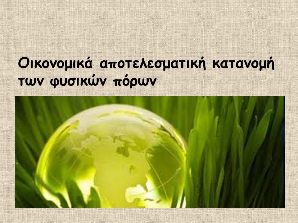 Οικονομικά αποτελεσματική κατανομή των φυσικών πόρων