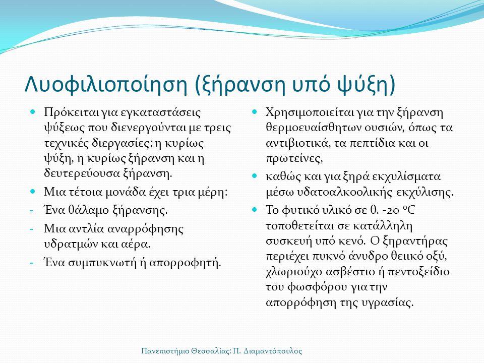 Λυοφιλιοποίηση (ξήρανση υπό ψύξη)