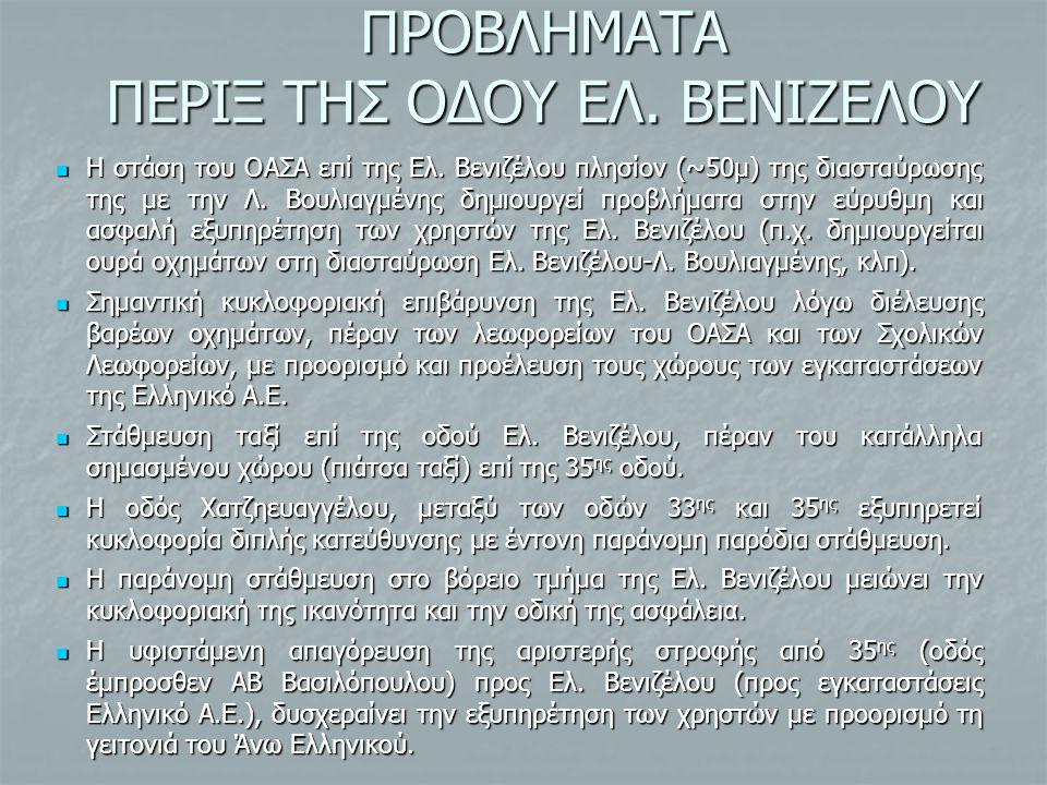 ΠΡΟΒΛΗΜΑΤΑ ΠΕΡΙΞ ΤΗΣ ΟΔΟΥ ΕΛ. ΒΕΝΙΖΕΛΟΥ