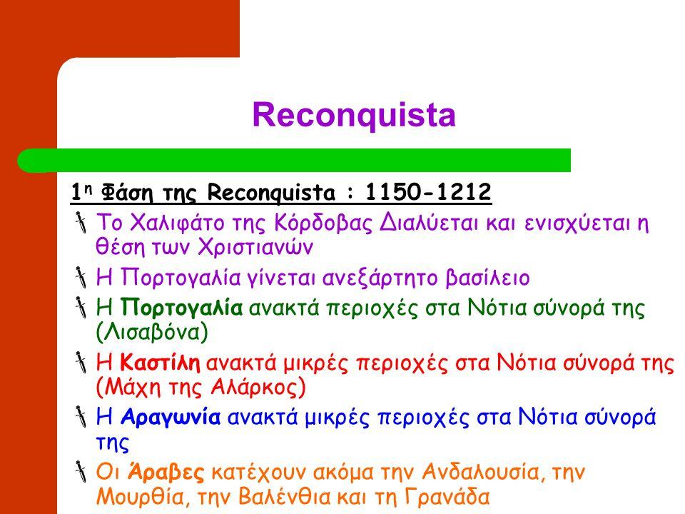 Reconquista 1η Φάση της Reconquista : 1150-1212