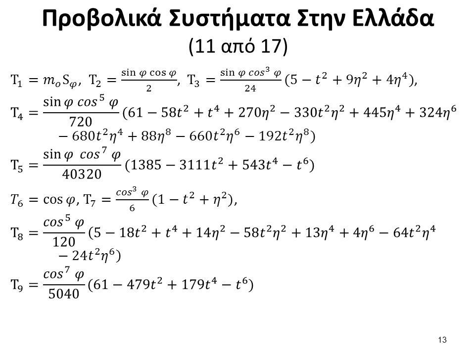 Προβολικά Συστήματα Στην Ελλάδα (12 από 17)