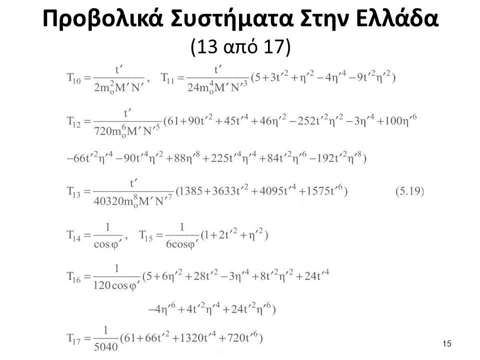 Προβολικά Συστήματα Στην Ελλάδα (14 από 17)