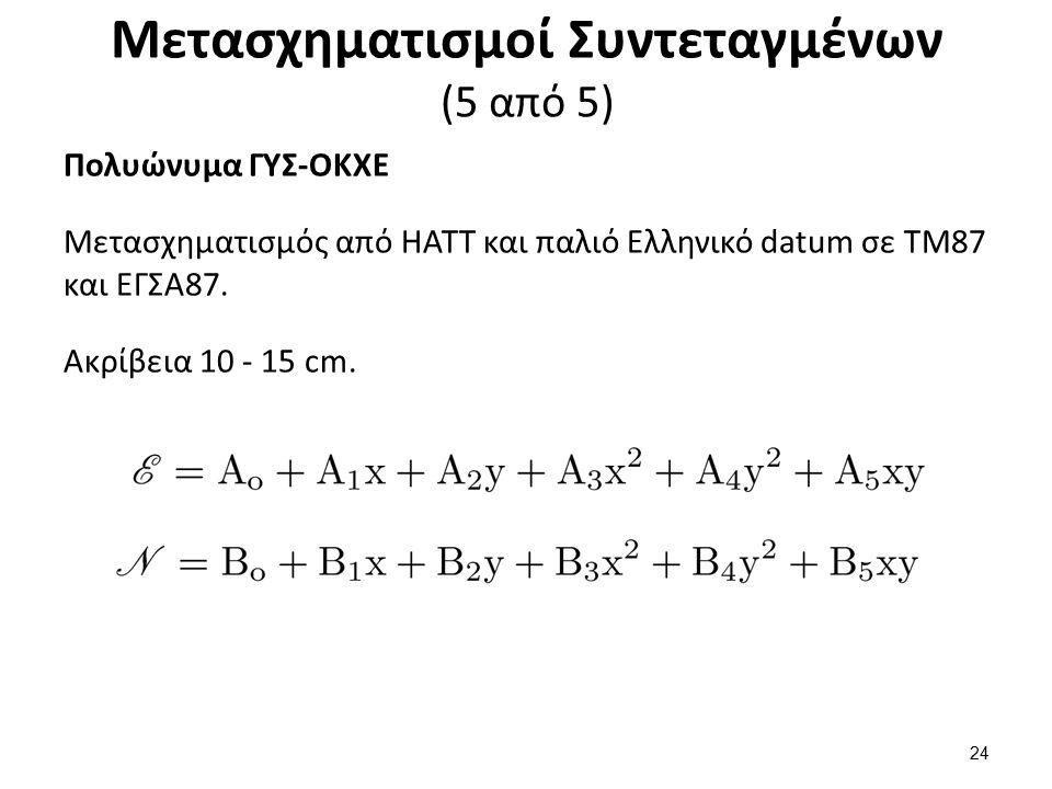 Μεταθέσεις Γεωδαιτικών Datum