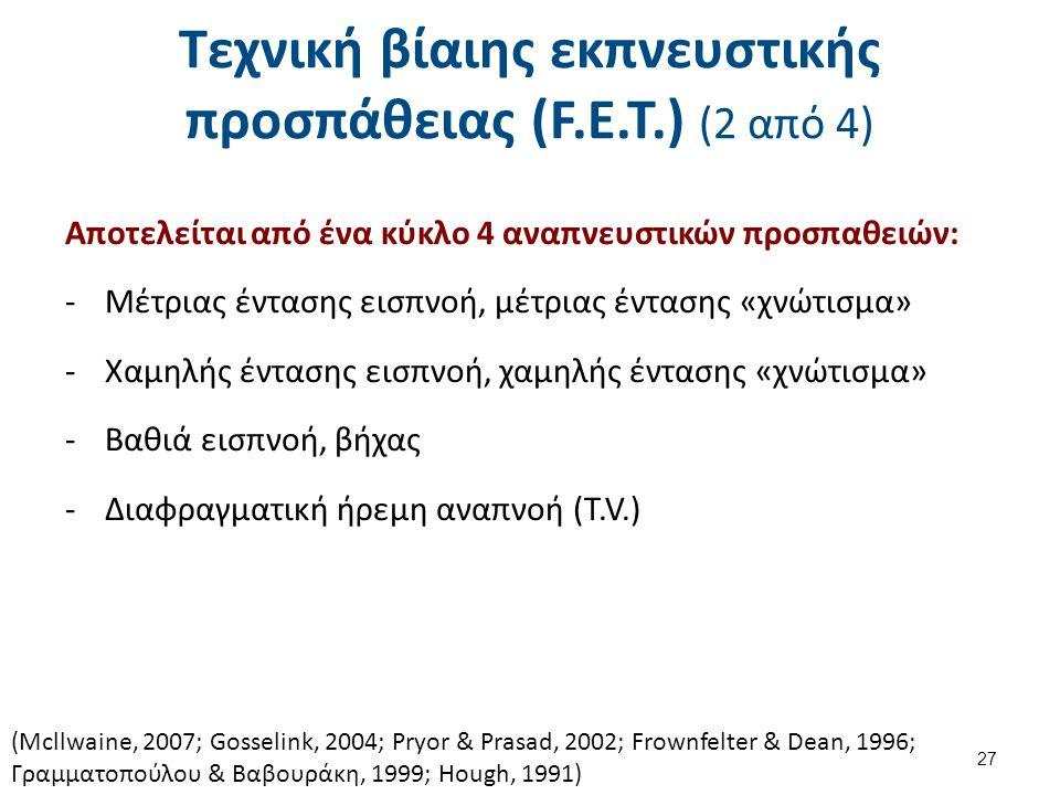 Τεχνική βίαιης εκπνευστικής προσπάθειας (F.E.T.) (3 από 4)