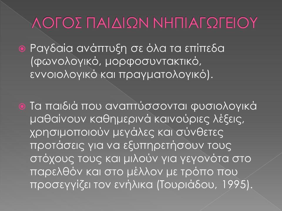 ΛΟΓΟΣ ΠΑΙΔΙΩΝ ΝΗΠΙΑΓΩΓΕΙΟΥ