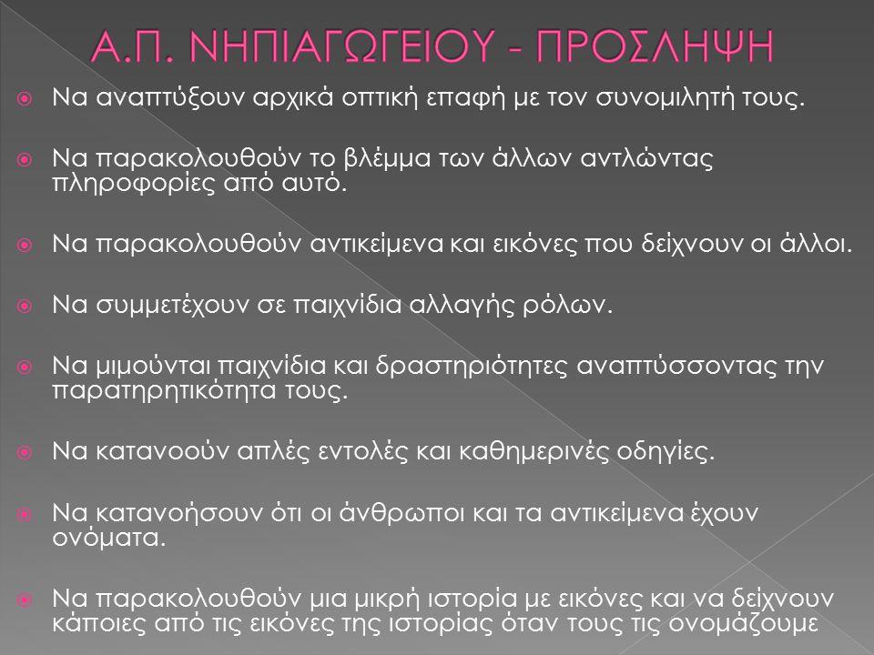 Α.Π. ΝΗΠΙΑΓΩΓΕΙΟΥ - ΠΡΟΣΛΗΨΗ