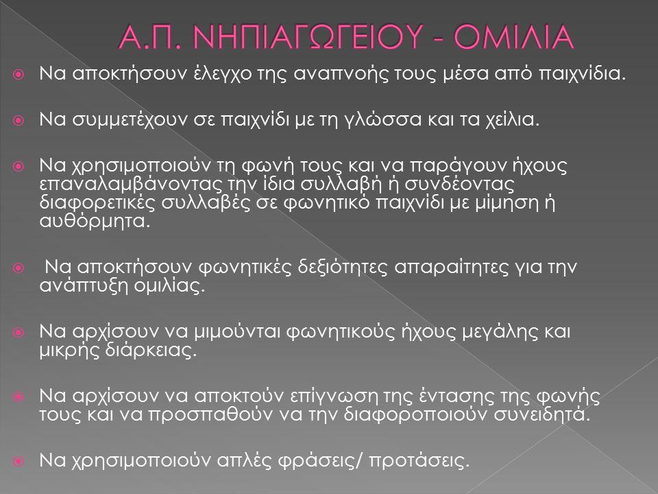 Α.Π. ΝΗΠΙΑΓΩΓΕΙΟΥ - ΟΜΙΛΙΑ