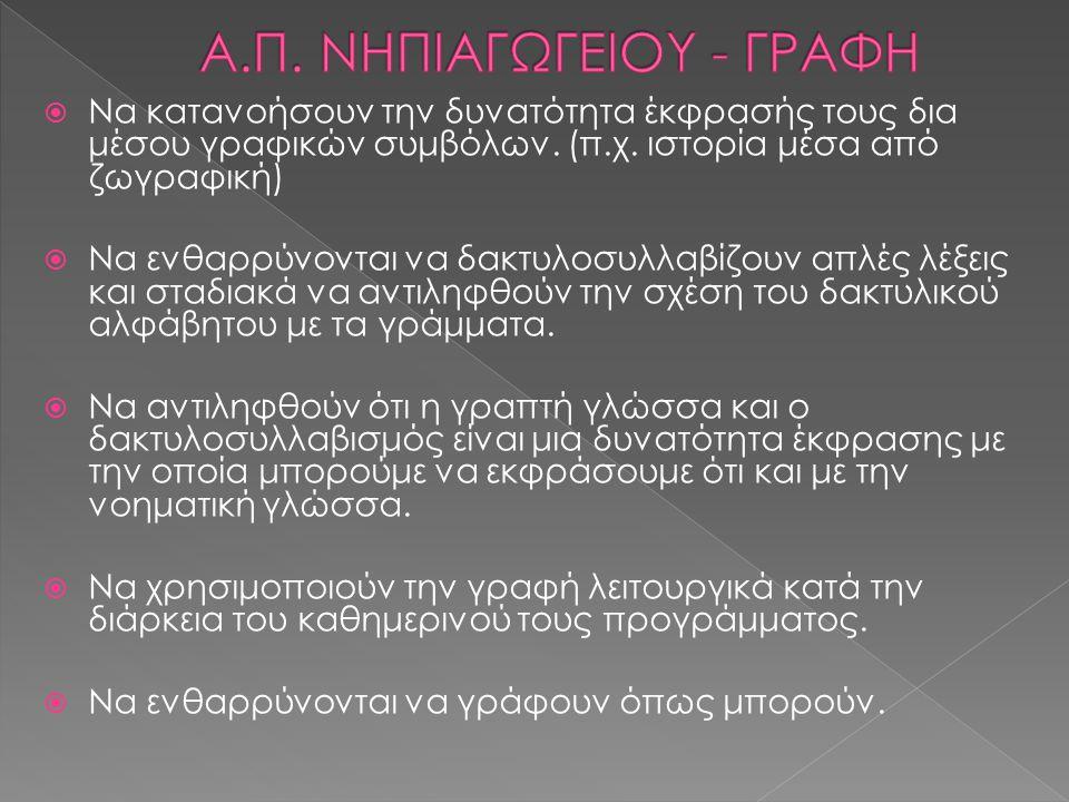 Α.Π. ΝΗΠΙΑΓΩΓΕΙΟΥ - ΓΡΑΦΗ
